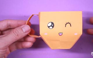 اوریگامی آسان و جذاب – لیوان