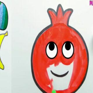چطور نقاشی میوه هارو بکشیم